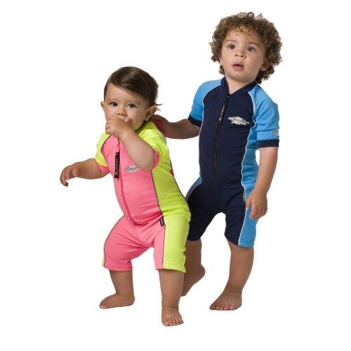 UVカット 水着(ベビー用) - ベビー スイムウェア サイズ:1歳 カラー:ピンク/イエロー