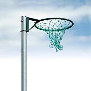 STEEL NETBALL RING WITH GREEN NET 16MM