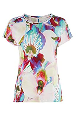 ORCHID-PRINT T-SHIRT