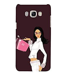 Shopping Girl 3D Hard Polycarbonate Designer Back Case Cover for Samsung Galaxy J5 2016 :: Samsung Galaxy J5 2016 J510F :: Samsung Galaxy J5 2016 J510FN J510G J510Y J510M :: Samsung Galaxy J5 Duos 2016