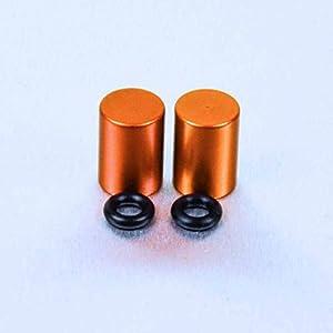 Aluminium Bleed Nipple Cover 7mm Pair Orange