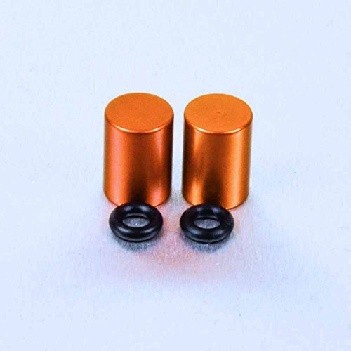 Aluminium Bleed Nipple Cover 7mm Pair Orange