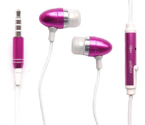 Emartbuy® Rosa In Ear Stereo Vivavoce Auricolare Con Microfono Per Sony Xperia Z2
