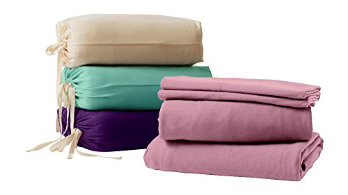 Organic Bedding Sets By Whisper Organics - GOTS Certified Organic - Ethically Made 200 Thread Count Soft Cotton Bed Sheets - Best Sheet Set (Queen, Dark Purple) (Organic Bed Set compare prices)