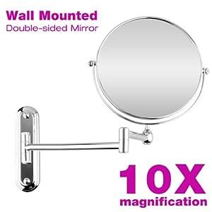 trois couleur 8 pouces miroir mural grossissant 10 fois extension pliant double face avec. Black Bedroom Furniture Sets. Home Design Ideas