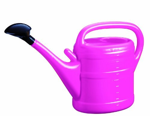 Green Wash Essential Watering Can 10L Pink with rose storage nozzle.