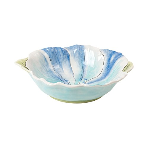 Paisley Park Collection, Floral Serving Bowl, Pastel Green Glass Serving Bowl