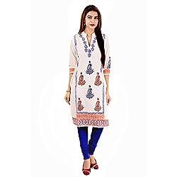 Shilpbazaar Women Jaipuri Block Printed Designer Cotton Kurti