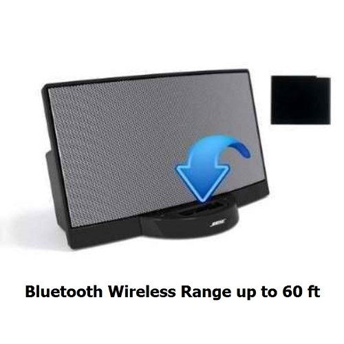 A2DP Bluetooth Music Receiver Adapter for Bose SoundDock Speakers- Extra Long Wireless Range up to 60 ft (Sale of New Model from 3/22/2013)