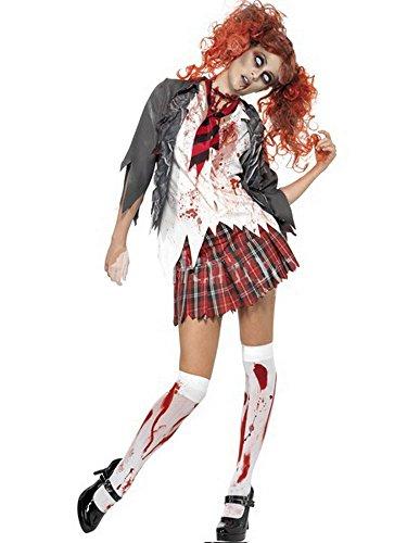 [Womens High School Scary Sexy Zombie Schoolgirl Halloween Costume Medium] (Dead School Girl Costume)