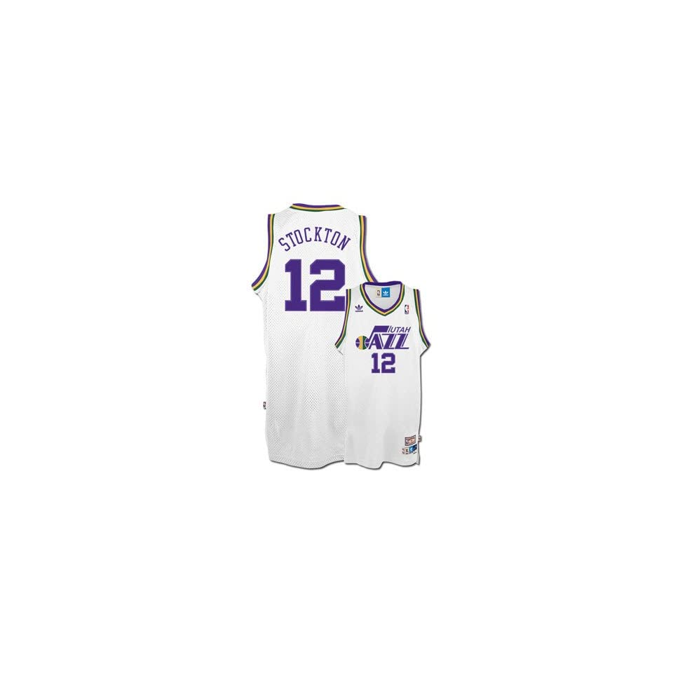 7d7a0aa3e Adidas Big Boys John Stockton Utah Jazz Retired Player Swingman