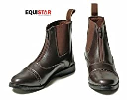 Equi-Star Kids Synthetic Zip Paddock Boots - Size:12 Color:Black