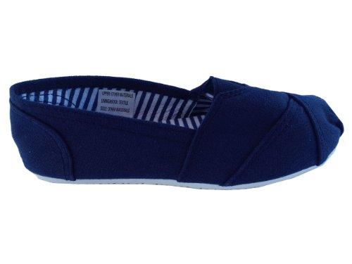 Espadrilles, toe stitched canvas flats/pumps/beach shoes - navy