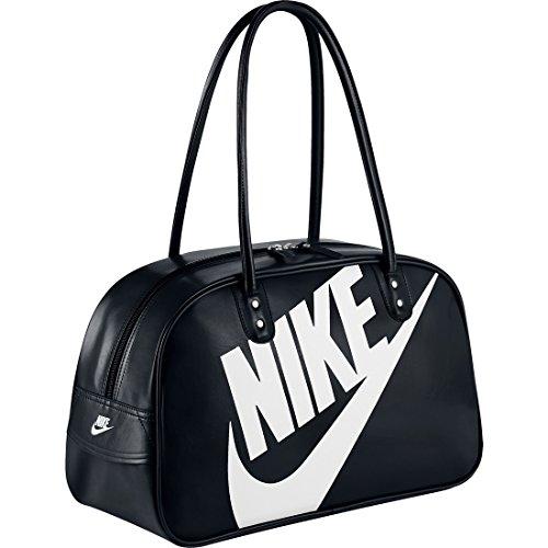 Nike Heritage Si Shoulder Club Borsa, Black/Black/(White), Taglia Unica