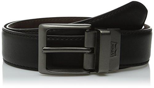 Levi's Men's 38mm Reversible Feather Edge Belt, Black/Brown, 38 (Levi Black Belt compare prices)