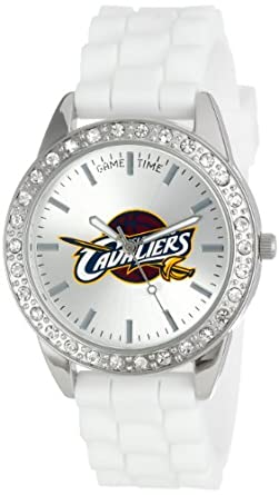 Game Time Ladies NBA-FRO-CLE Frost NBA Series Cleveland Cavaliers 3-Hand Analog Watch by Game Time