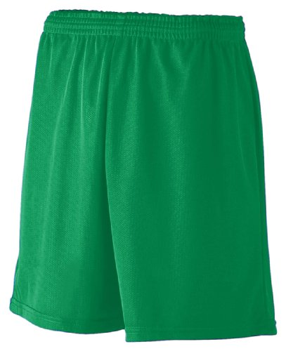 Augusta Sportswear Youth Mini Mesh League Short, Kelly, Small front-844557