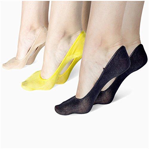 Bamboo Crew Women's No Show Liner Socks, Bamboo (Pack of 6)