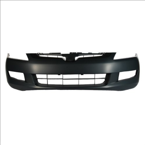 CarPartsDepot, Front Primed Black Bumper Cover Assembly w/Fog Lamp Holes, 352-20717-10-PM HO1000212 04711SDPA90ZZ (2003 Honda Accord Ex Bumper Cover compare prices)