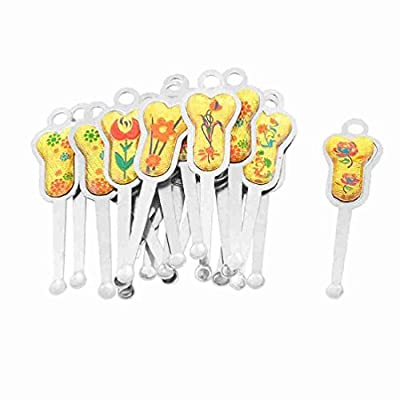 Move&Moving(TM) 20 Pcs Earpick Earwax Spoon Ear Wax Remover Removal Tool Silver Tone