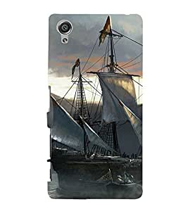 Sailboat Design 3D Hard Polycarbonate Designer Back Case Cover for Sony Xperia X :: Sony Xperia X Dual