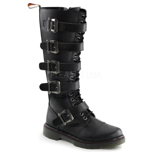 Demonia Disorder-420 Men'S Hot Fashion 20 Eyelet Combat Boot, Color:Black Pu, Size:8