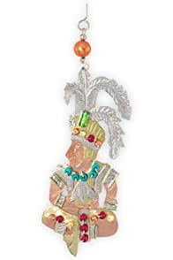Pilgrim Imports Mayan Priest Metal Fair Trade Ornament