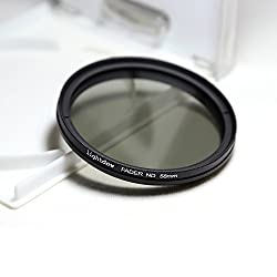 Lightdow 58mm Fader ND Neutral Density Variable Filter with 62mm Front Filter Thread for Camera Lenses Canon 18-55mm, 55-250mm, 75-300mm III, 70-300mm IS USM, 24mm F2.8, 28mm F1.8, 50mm F1.4, 65mm F2.8, 85mm F1.8, 90mm F2.8,