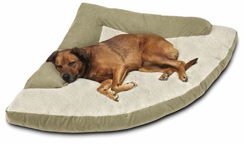 Extra Large Caddis Corner Dog Bed With Bolster 64