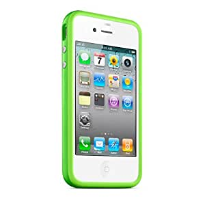 Acm Smart Front & Back Flip Cover For Apple Iphone 4 Mobile Stand Flap Case- Green