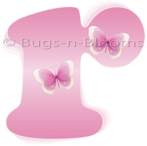 """""""R"""" Pink Butterfly Alphabet Letter Name Wall Sticker. Decal Letters For Children'S, Nursery & Baby'S Room Decor, Baby Name Wall Letters, Girls Bedroom Wall Letter Decorations, Child'S Names. Butterflies Mural Walls Decals Baby Shower front-965281"""