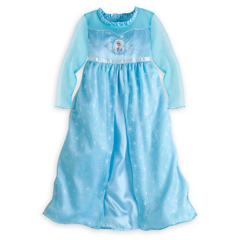 Disney Store Frozen Princess Elsa Nightgown Girls Size Small 5/6 (5T) front-93060