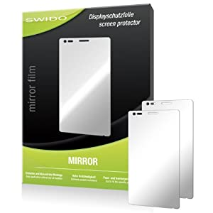 2 x SWIDO Mirror Screen Protector for Sony Xperia M - PREMIUM QUALITY (mirror-effect, hard-coated, bubble free application)