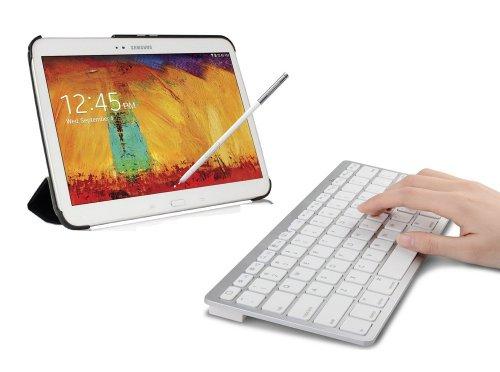 Sparin Ultra Slim Mini Bluetooth Keyboard For Samsung Galaxy Tab Pro (8.4, 10.1, 12.2 Inch), Galaxy Note Pro 12.2 Inch, Galaxy Note 10.1 2014 Edition, Galaxy Tab 3, Galaxy Tab 2, Galaxy Note 8.0, Galaxy Note 10.1 (2012 Edition) And Other Android Tablets -