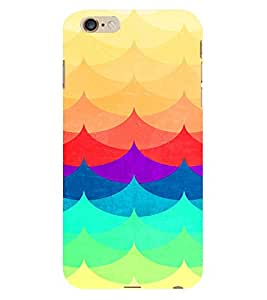 Kingcase Printed Back Case Cover For Apple I Phone 6 Plus - Multicolor