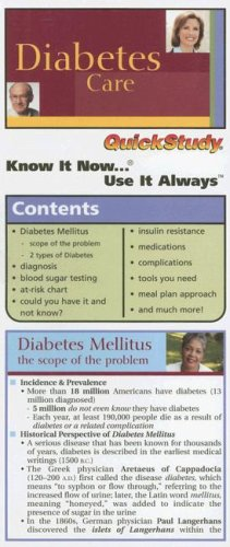 Compact Diabetes Care (Quickstudy: Compact)
