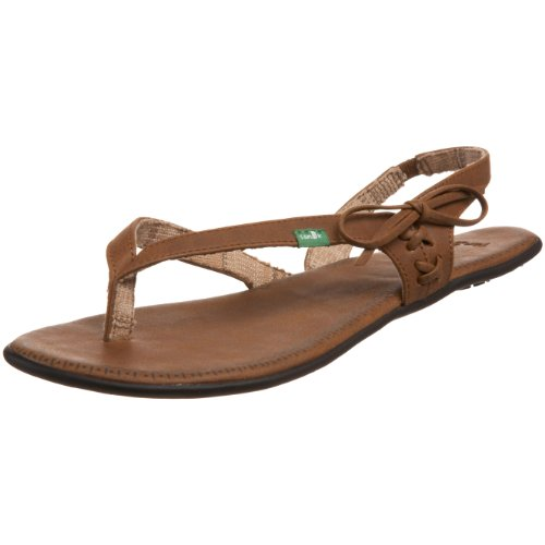 Sanuk Women's Kiss & Tell Sandal,Brown,10 M US