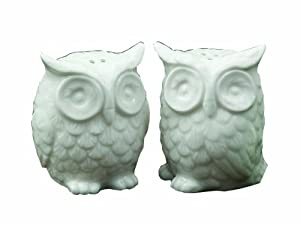 Creative Co-Op Ceramic Owl Salt and Pepper Shaker, Set of 2 by Creative Co-op