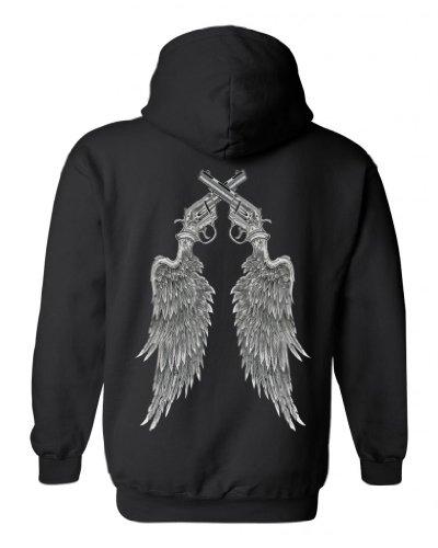 Large Black Angel Wings