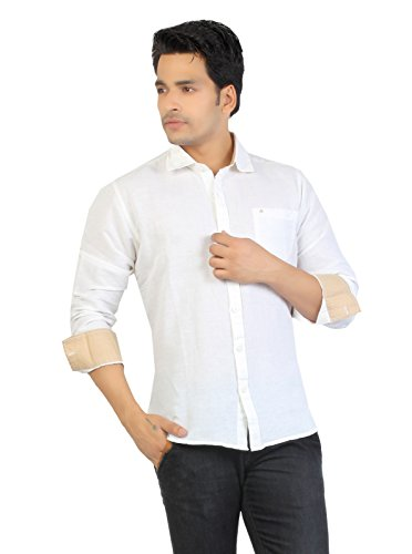 Aliep Aliep Smart White Linen\/Cotton Full Sleeves Shirt For Men | ALP3040 (Multicolor)