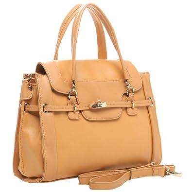 MG Collection WINONA Beige Office Doctor Tote Style Satchel Handbag