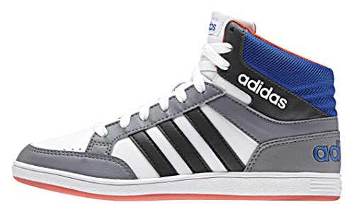 Adidas Hoops Mid K Scarpe da basketball, Bambini e ragazzi, Multicolore (Ftwwht/Boonix/Blue), 34
