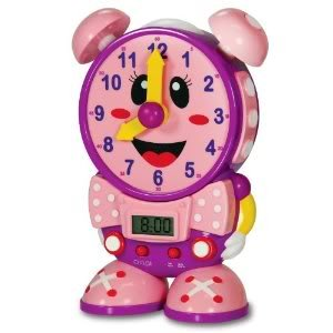 Toy / Game The Learning Journey Telly The Teaching Time Clock (Pink) W/ Two Quiz Modes & A Real Working Clock