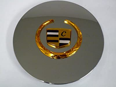 Otis Inc LA Cadillac Seville, Deville, El Dorado, DTS Chrome Wheel Center Cap with Gold Wreath and Crest