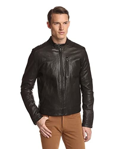 Zachary Prell Men's Hubert Textured Leather Moto Jacket