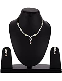 Cardinal American Diamond Necklace Set/Pendant Set With Earring For Women/Girls