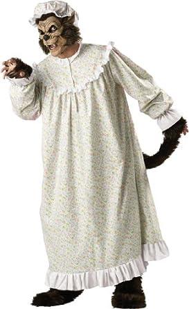 InCharacter Costumes, LLC Big Bad Wolf Adult Night Gown, Multi Colored, Medium