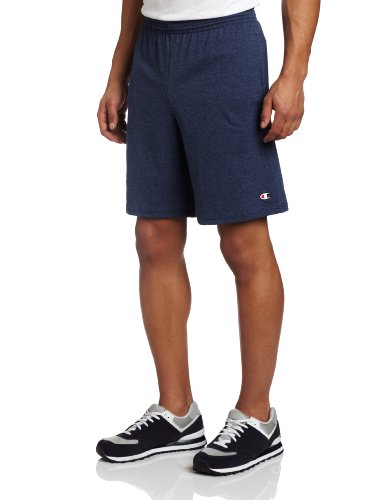 Champion Men's Jersey Short With Pockets, Navy Heather, X-Large