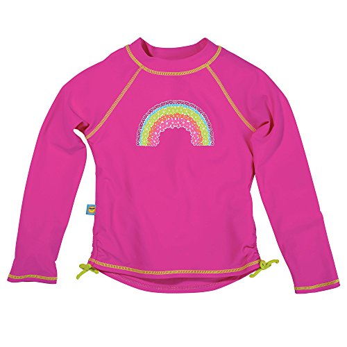 Pink Toddler Long Sleeve Rash Guard by Sun Smarties, Rainbow, Size 3T (Toddler Sun Protection Swimwear compare prices)