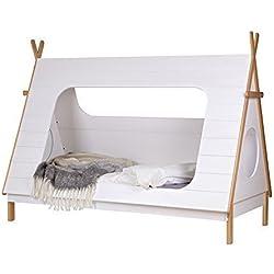 lounge-zone Abenteuerbett Spielbett TIPI Kiefer weiß lackiert 90x200cm 12366